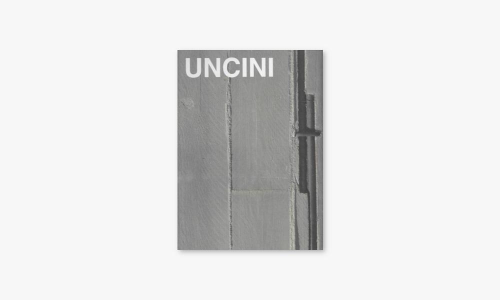 GIUSEPPE UNCINI – RAUM AUS FLÄCHE UND STRUKTUR (2001)